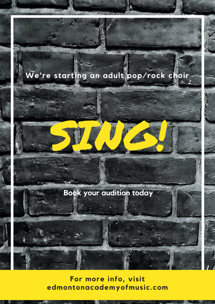 """""""SING"""" Join our New Adult Choir this Fall!!"""